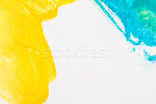 Abstract blue and yellow arts background Stock photo © Taigi