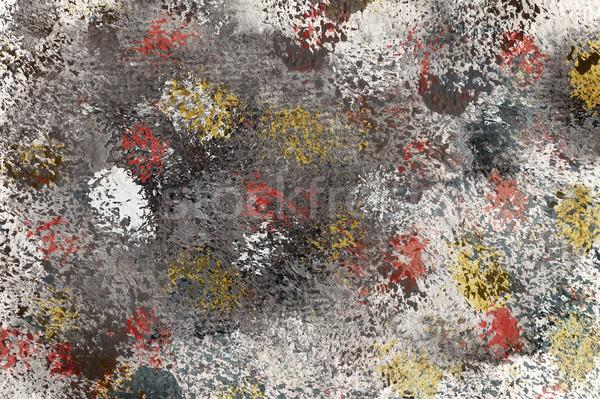 Acrylique arts utilisé peinture rouge Photo stock © Taigi