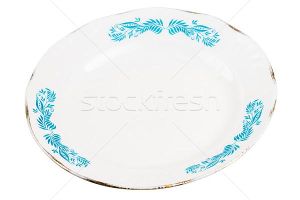 öreg tányér szovjet szövetség izolált fehér Stock fotó © Taigi