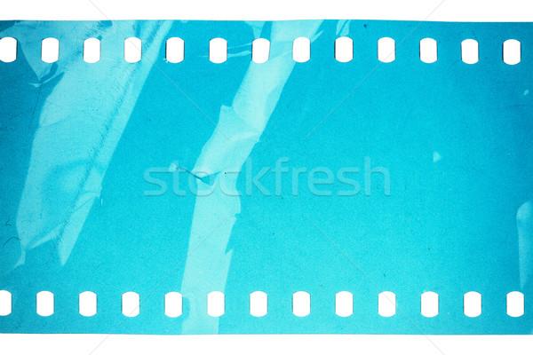 Vecchio grunge filmstrip rumoroso blu isolato Foto d'archivio © Taigi