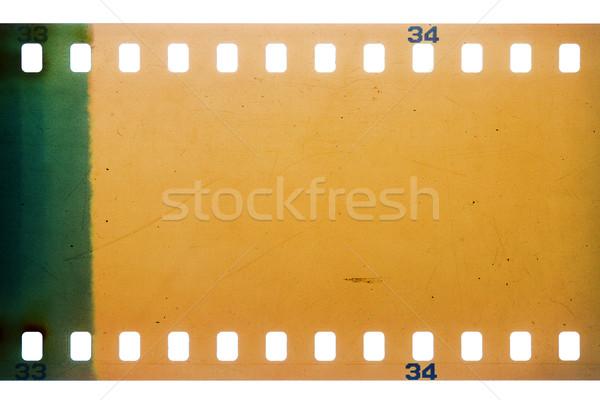 Eski grunge filmstrip sarı canlı gürültülü Stok fotoğraf © Taigi