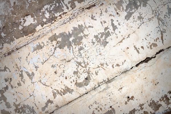Beton fal fehér festék textúra ház Stock fotó © Taigi