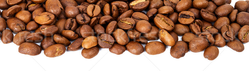 Stock photo: Line of roasted coffee beans