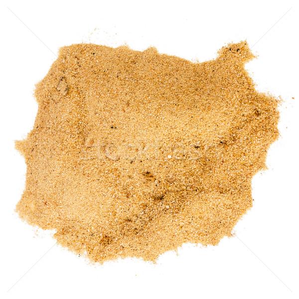Сток-фото: желтый · песок · изолированный · белый · аннотация