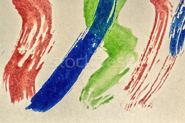 Streszczenie akwarela sztuki makro shot Zdjęcia stock © Taigi