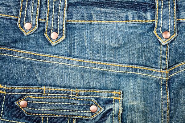 Farmernadrág szövet zseb textúra divat kék Stock fotó © Taigi