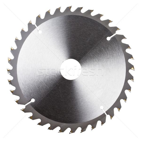 Stock photo: New circular saw blade