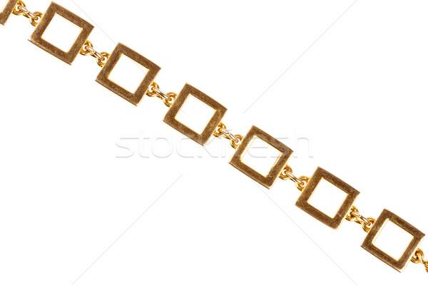 Eski altın zincir büyük kare linkler Stok fotoğraf © Taigi
