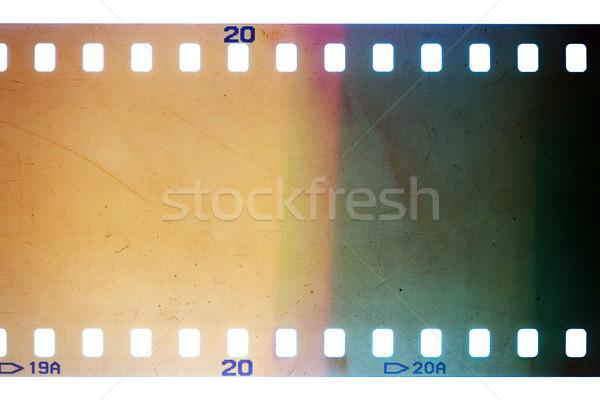 Edad grunge tira de película amarillo vibrante ruidoso Foto stock © Taigi