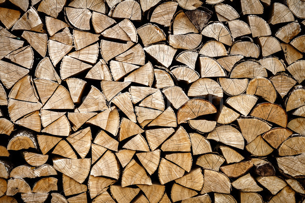 Chopped logs for winter fire Stock photo © Taigi