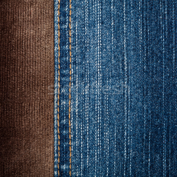 Jeans and corduroy textures Stock photo © Taigi