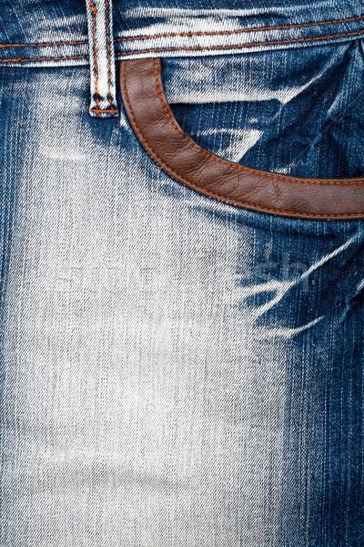 Shot jeans Blauw Stockfoto © Taigi