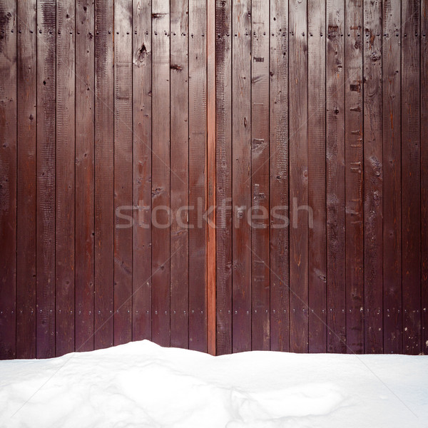 Old weathered wood fence Stock photo © Taigi