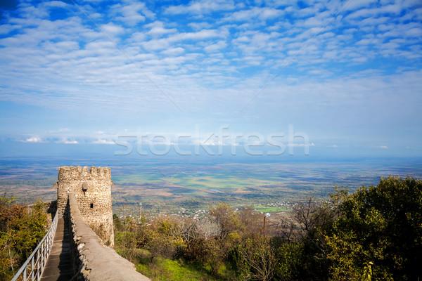 Görmek vadi Georgia kasaba duvarlar bölge Stok fotoğraf © Taigi