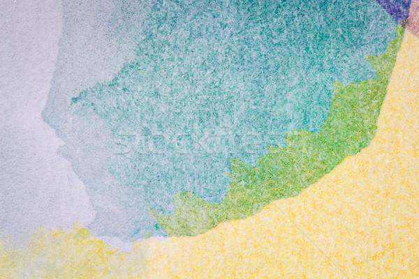 Stockfoto: Abstract · arts · hand · geschilderd · groene · Geel