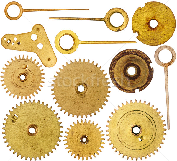 Collection of old clockwork parts Stock photo © Taigi