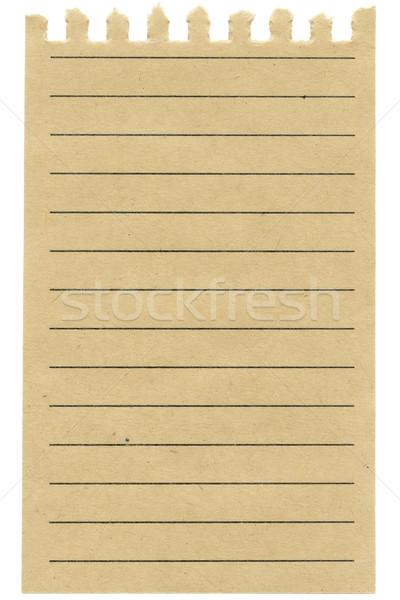 リサイクル 紙 シート 孤立した 白 オフィス ストックフォト © Taigi