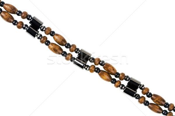 магнитный бисер ожерелье подробность изолированный Сток-фото © Taigi