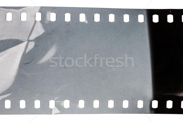 Vecchio grunge filmstrip rumoroso isolato bianco Foto d'archivio © Taigi