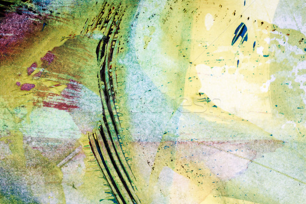 Soyut sanat atış el boyalı Stok fotoğraf © Taigi