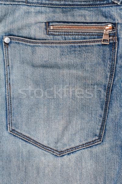 Blue jeans fabric with zipper   Stock photo © Taigi