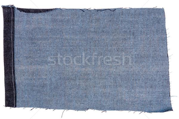 Pezzo buio tessuto isolato bianco Foto d'archivio © Taigi