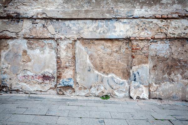 Zdjęcia stock: Pęknięty · gipsu · ściany · wyblakły · domu