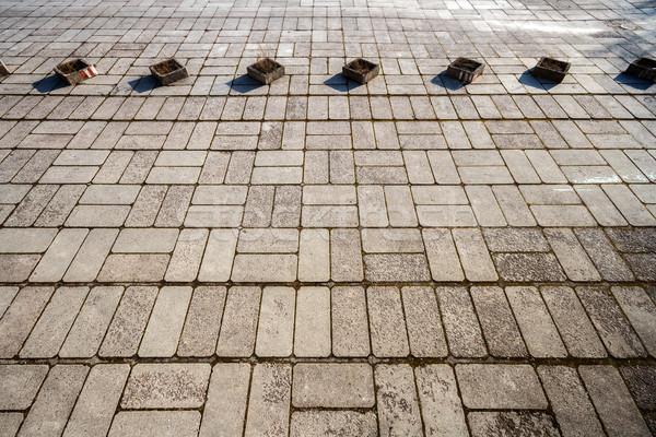 Concrete paving texture Stock photo © Taigi