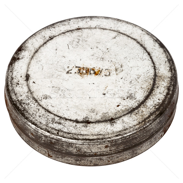 Rusty round metal plate Stock photo © Taigi