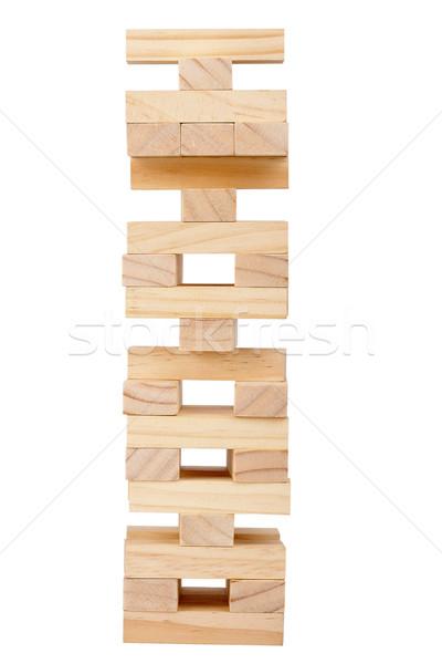 Wooden blocks tower Stock photo © Taigi