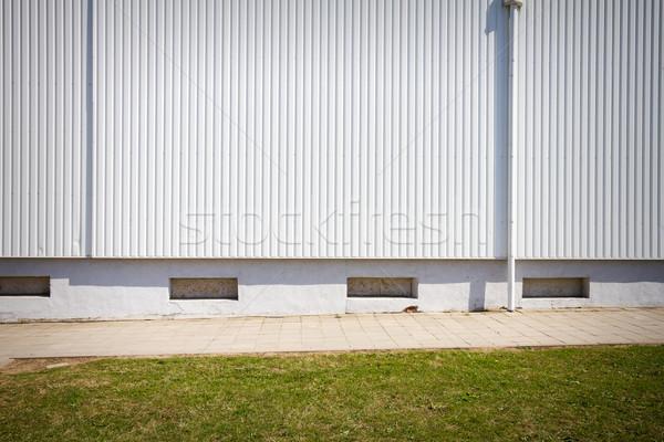 Grooved metal wall Stock photo © Taigi
