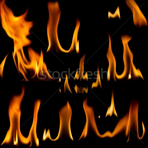 Set of fire flames   Stock photo © Taigi