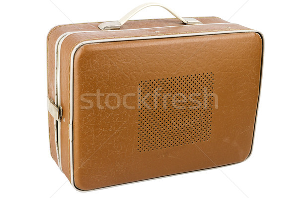 Side view of vintage suitcase turntable Stock photo © Taigi