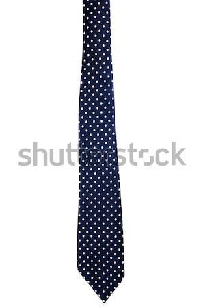 Escuro azul pontilhado amarrar isolado branco Foto stock © Taigi