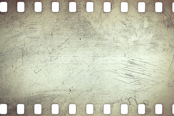 Velho grunge filmstrip amarelo vibrante barulhento Foto stock © Taigi