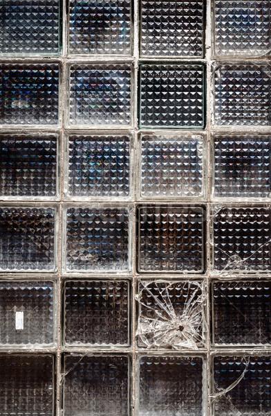 Pattern of old glass block wall Stock photo © Taigi