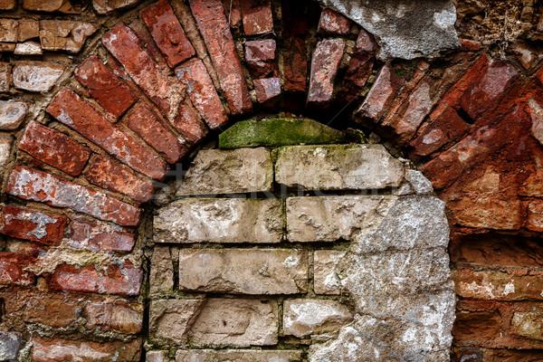 古い 捨てられた 壁 アップ ウィンドウ アーキテクチャ ストックフォト © Taigi
