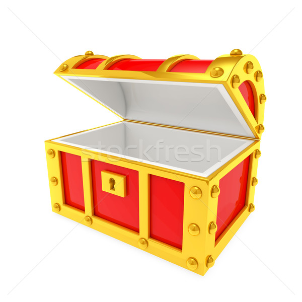Kincs doboz konténer raktár meglepetés gazdag Stock fotó © taiyaki999