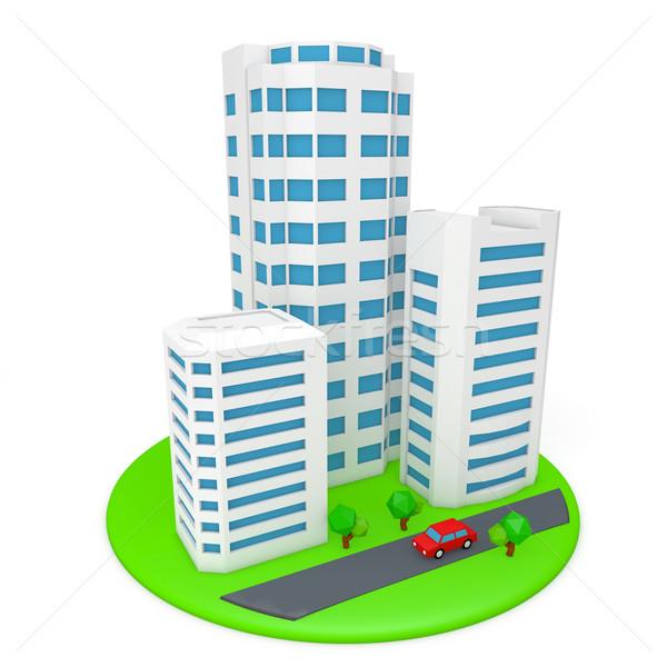 Costruzione immagini edifici business città strada Foto d'archivio © taiyaki999