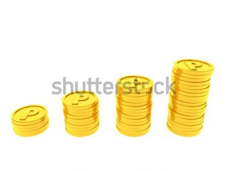 точки монетами счастливым торговых знак службе Сток-фото © taiyaki999