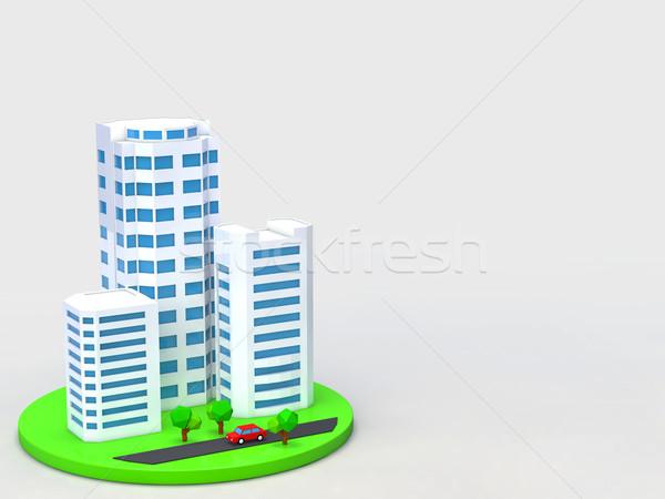 здании бизнеса город улице городского отель Сток-фото © taiyaki999