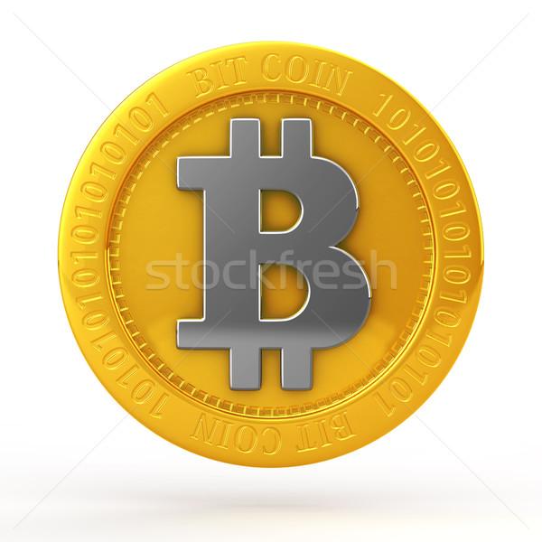 бит монетами монеты белый деньги интернет Сток-фото © taiyaki999
