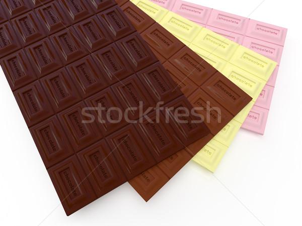 Csokoládé tányér forma négy háttér minta Stock fotó © taiyaki999