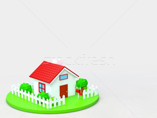 дома жилье изображение копия пространства модель домой Сток-фото © taiyaki999