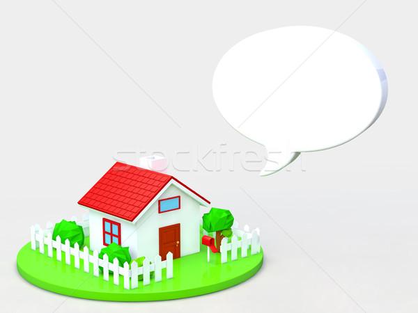 дома домах копия пространства модель домой саду Сток-фото © taiyaki999