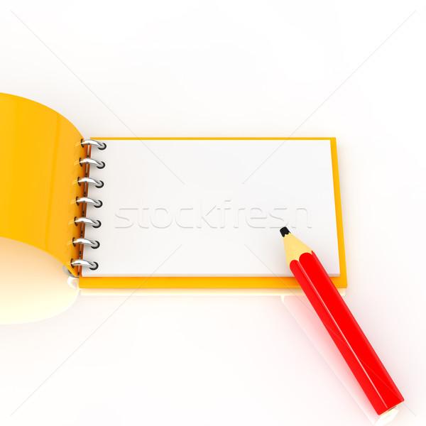 Jegyzettömb ceruza üzlet papír toll háttér Stock fotó © taiyaki999