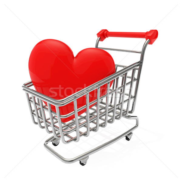 купить любви Корзина металл рынке супермаркета Сток-фото © taiyaki999