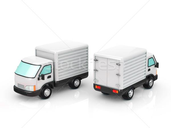トラック ビジネス コンテナ 移動 送料 機械 ストックフォト © taiyaki999