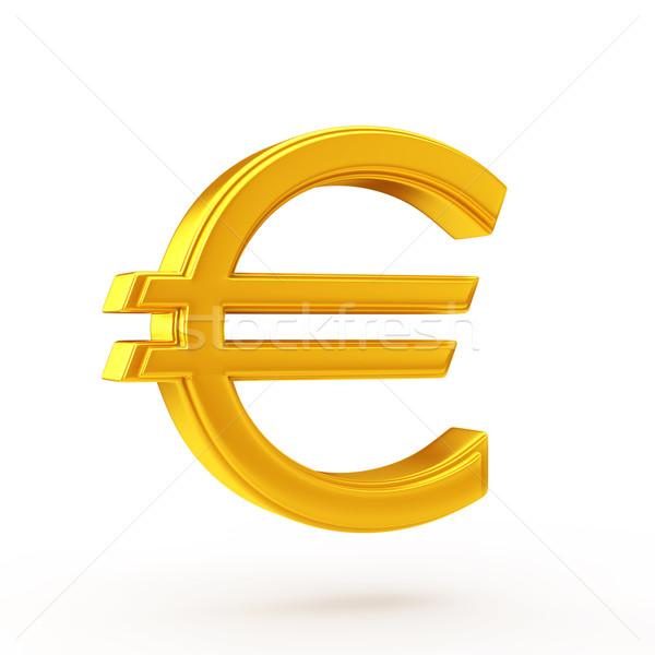 Stock Photo Golden Euro Symbol