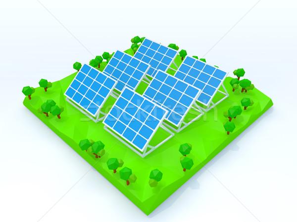 世代 自然 エネルギー 電源 白 ストックフォト © taiyaki999